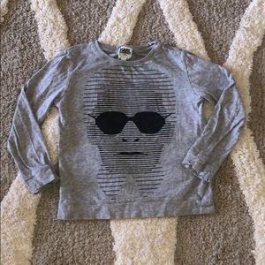KARL LAGERFELD kids long sleeved grey shirt size 6